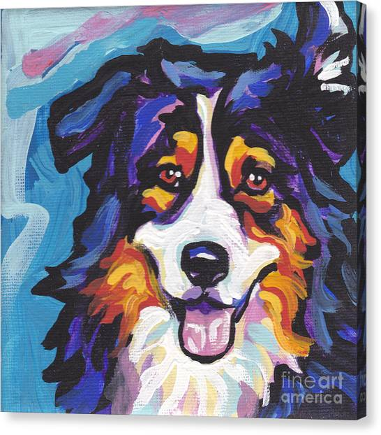 Dog Canvas Print - Tri Aussie by Lea S