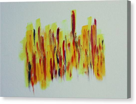 Trial By Fire Canvas Print by Tom Atkins