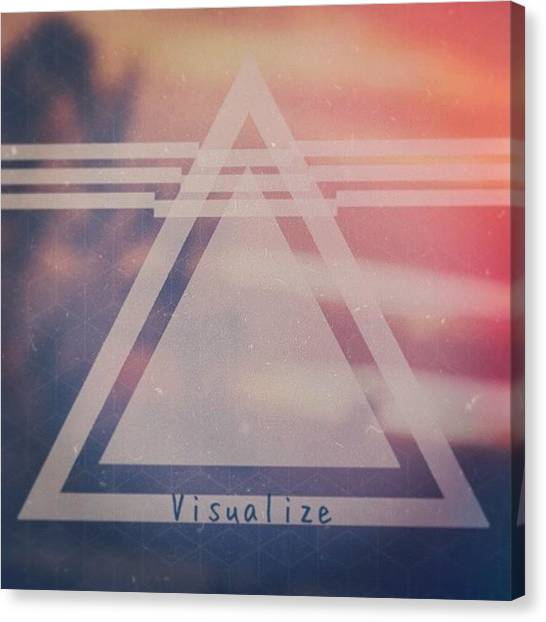 Triangles Canvas Print - #triangle #geometric #letters by Pablo Elias