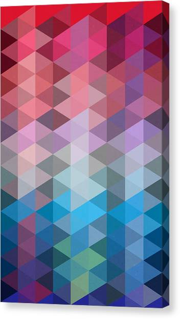 Geometry Canvas Print - Triangles by Mark Ashkenazi