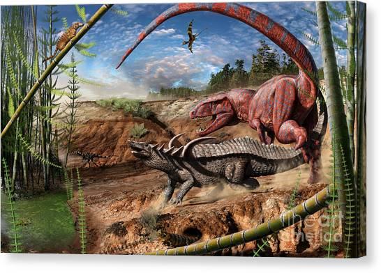 Triassic Mural 2 Canvas Print