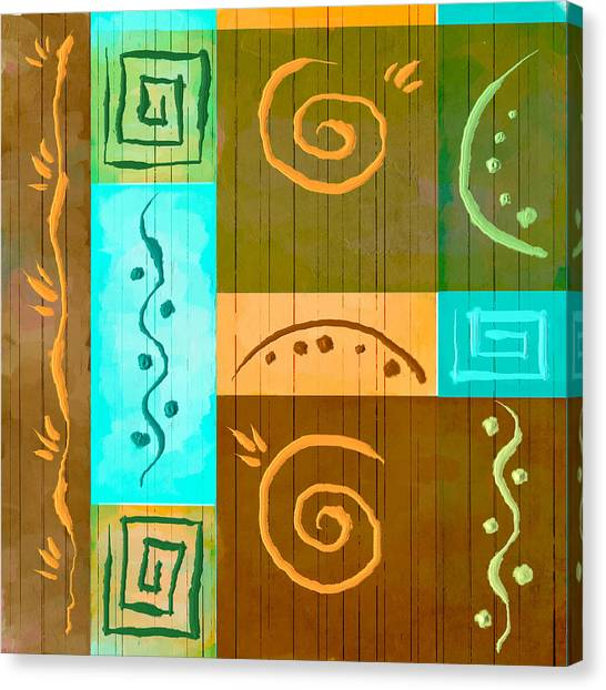 Tribal Abstract Canvas Print by Brenda Bryant