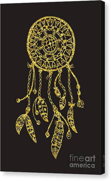 Magician Canvas Print - Tribal Vector Dream Catcher With by Qilli
