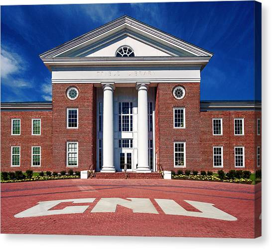 Trible Library Christopher Newport University Canvas Print