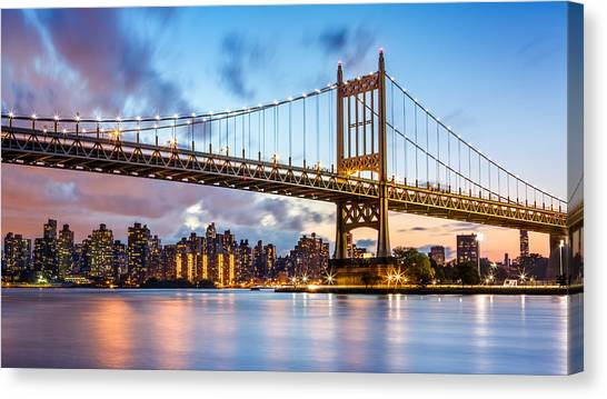 Triboro Bridge At Dusk Canvas Print