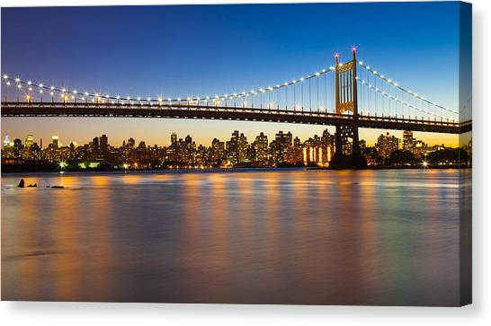Triborough From Queens Canvas Print by Chris Halford