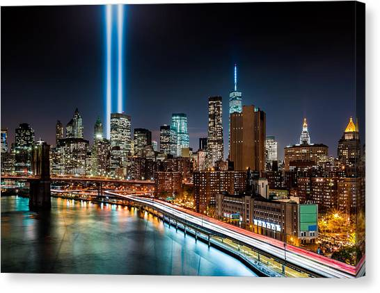 Tribute In Light Memorial Canvas Print