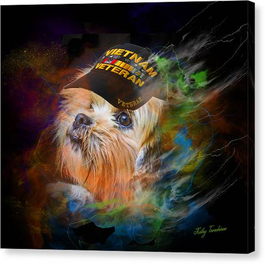 Tribute To Canine Veterans Canvas Print