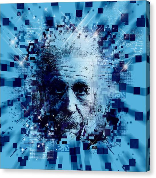Genius Canvas Print - Tribute To Genius 2 by Bekim Art