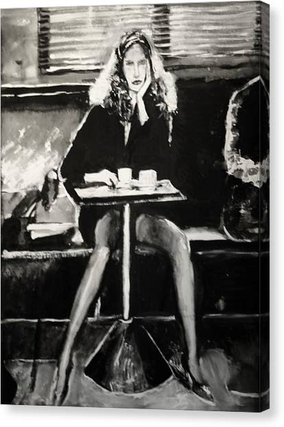 Tribute To Helmut Newton Canvas Print