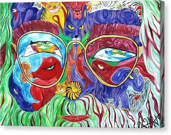 Tribute To Jerry Garcia Canvas Print by  Artist Alfredo Dane Llana