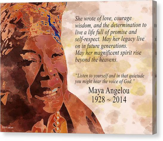 Tribute To Maya Angelou Canvas Print
