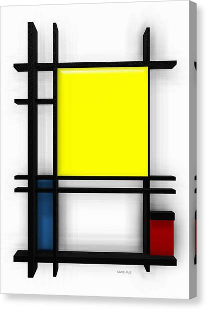 tribute to Mondrian 1 Canvas Print