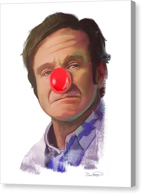 Tribute To Robin Williams Canvas Print