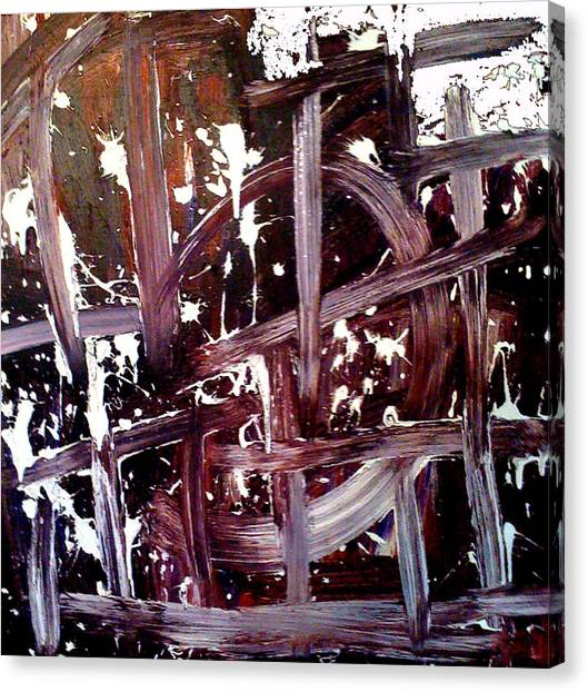 Tribute To Tapies Canvas Print by Ernesto Akaba