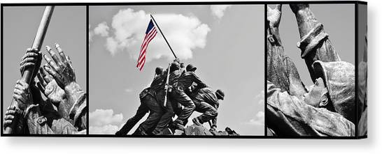 Tribute To The Marines Canvas Print