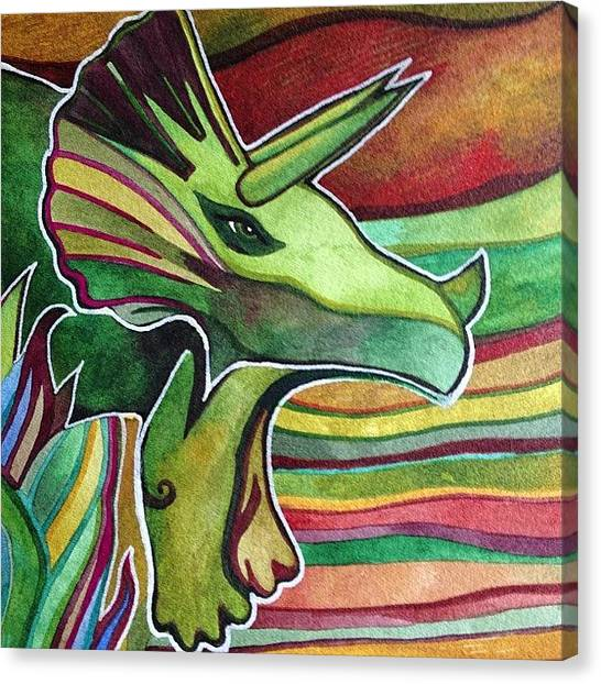 Triceratops Canvas Print - Triceratops Is Not On Etsy, Shop Name : by Megan Smith