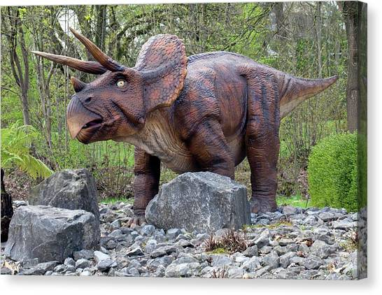 Triceratops Canvas Print - Triceratops Model I by Dirk Wiersma