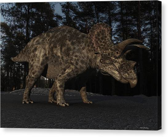 Triceratops Canvas Print - Triceratops by Ramon Martinez