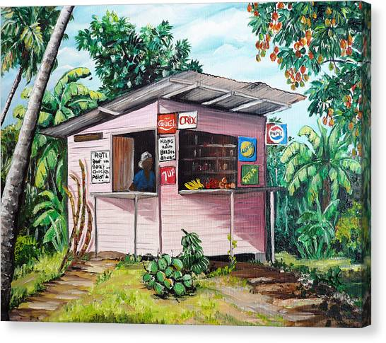Mango Tree Canvas Print - Trini Roti Shop by Karin  Dawn Kelshall- Best