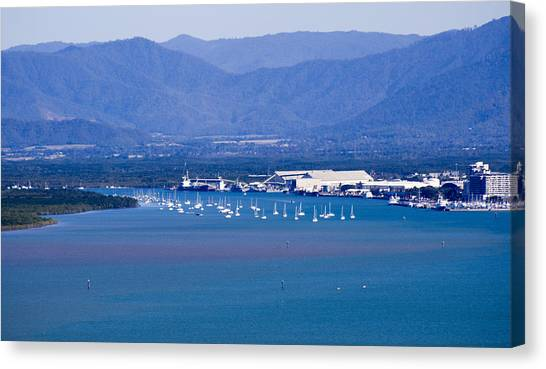 Trinity Inlet From The Air Canvas Print