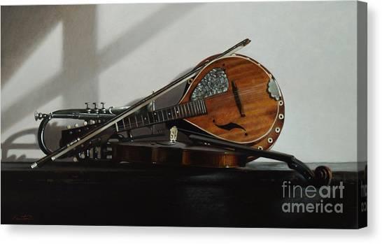 Mandolins Canvas Print - Trio by Lawrence Preston