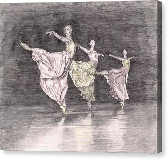 Trio Of Grace Canvas Print by Beverly Marshall
