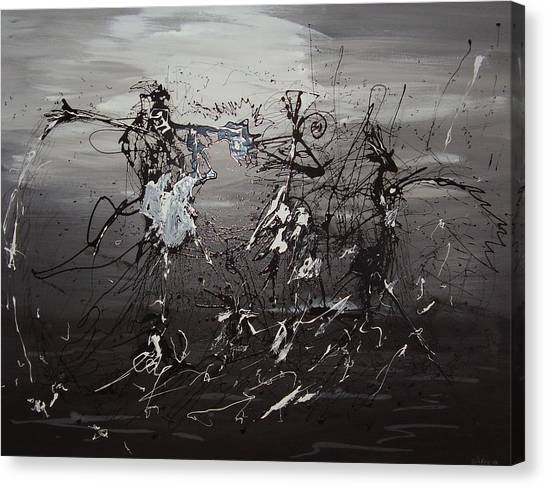 Trio Canvas Print by Waldemar  Van Wyk