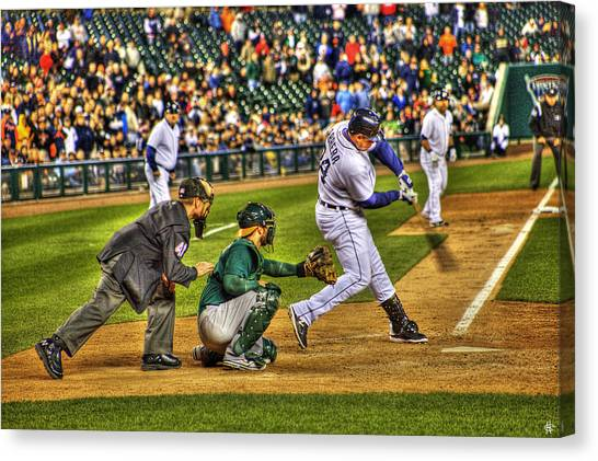 Miguel Cabrera Canvas Print - Triple Crown Winner Detroit Tigers Miguel Cabrera by A And N Art