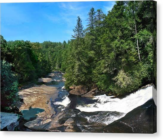 Triple Falls North Carolina Canvas Print