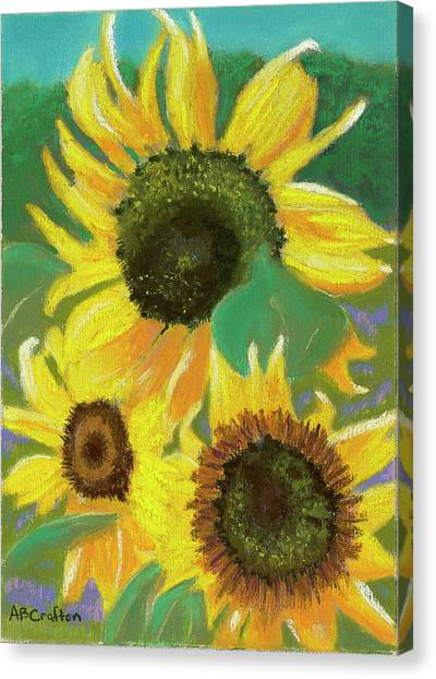 Triple Gold Canvas Print