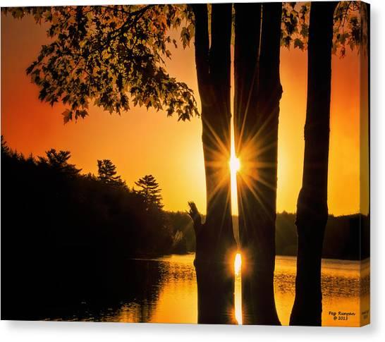 Triple Sunburst Morning Canvas Print