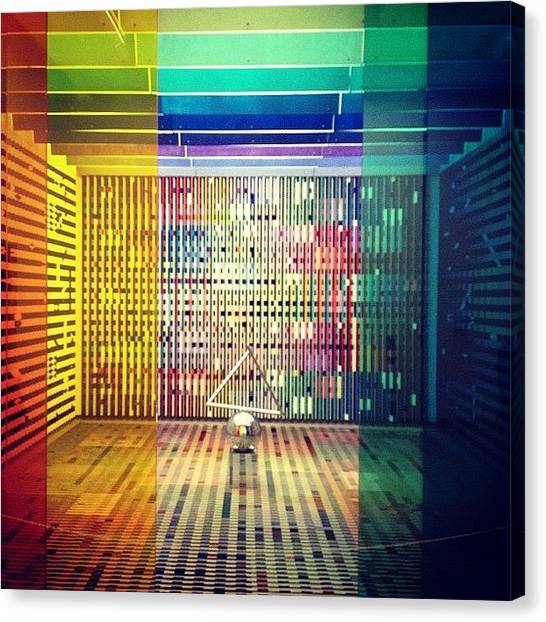 Installation Art Canvas Print - Trippy Installation. I Think I Actually by Rob Schlederer