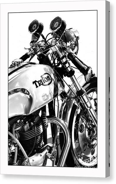 Triton Motorcycle Canvas Print