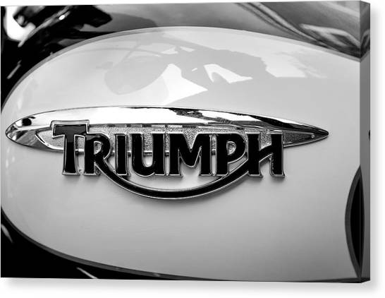 Triumph Fuel Tank Canvas Print