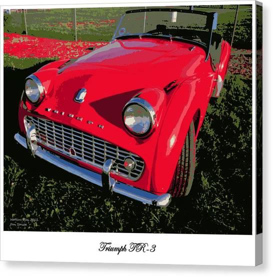 Triumph Tr-3 Canvas Print