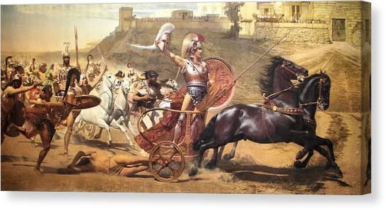 Triumphant Achilles Canvas Print