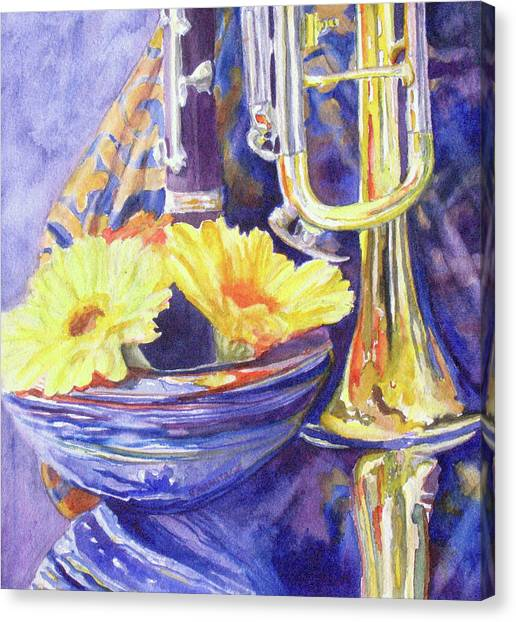 Clarinets Canvas Print - Triumphant Daisies by Jenny Armitage