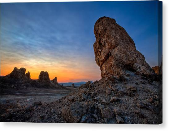 Mojave Desert Canvas Print - Trona Pinnacles by Peter Tellone