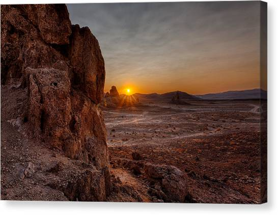 Mojave Desert Canvas Print - Trona Sunset by Peter Tellone