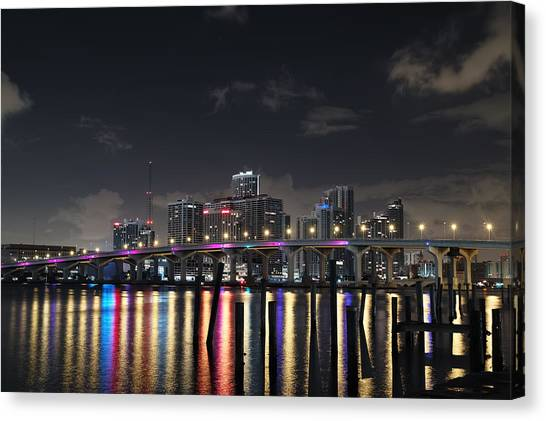 Trooper Bridge Miami Canvas Print