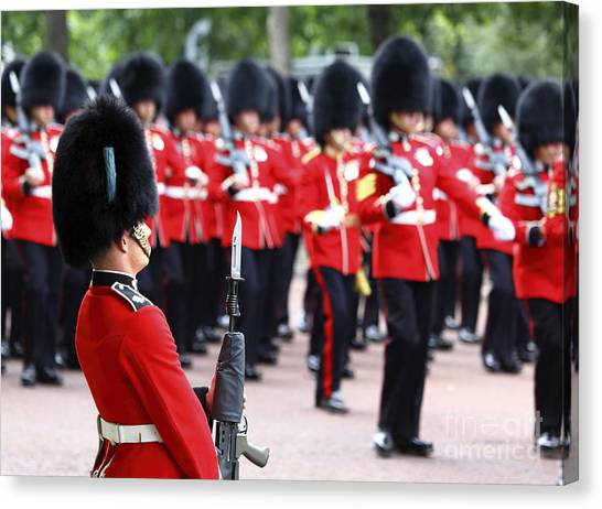Royal Guard Canvas Print - Trooping The Colour London by James Brunker
