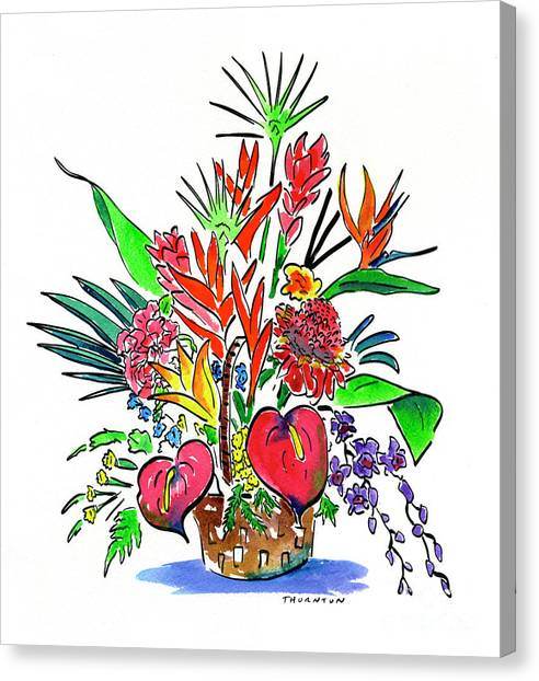 Tropical Basket Canvas Print