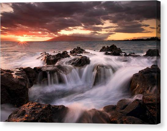Ocean Sunsets Canvas Print - Tropical Cauldron by Mike  Dawson