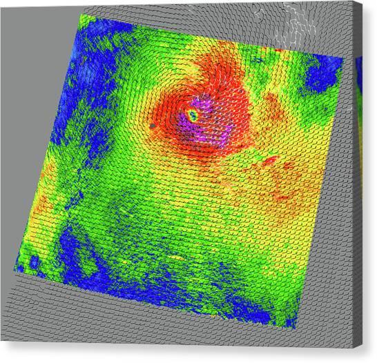 Cyclones Canvas Print - Tropical Cyclone Dora by Nasa/jpl/quickscat Science Team/science Photo Library
