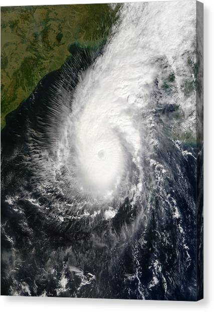 Cyclones Canvas Print - Tropical Cyclone Sidr by Nasa/gsfc/science Photo Library