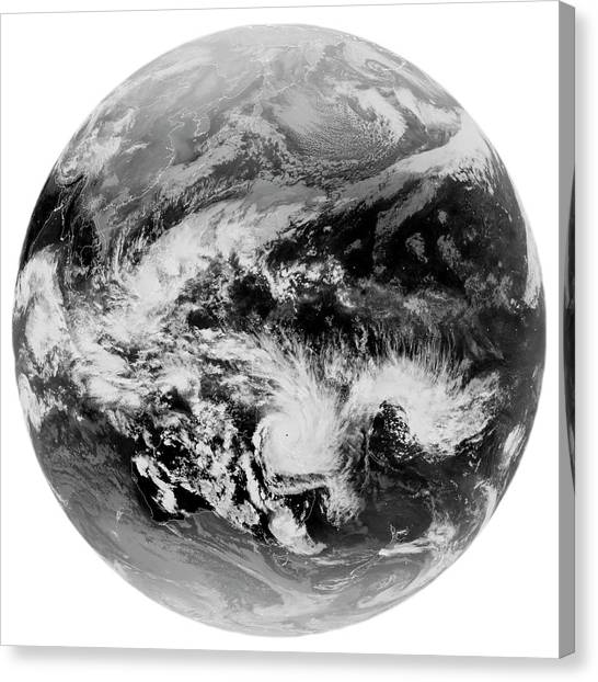 Cyclones Canvas Print - Tropical Cyclone Yasi by University Of Dundee/science Photo Library