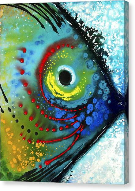 Seafood Canvas Print - Tropical Fish - Art By Sharon Cummings by Sharon Cummings