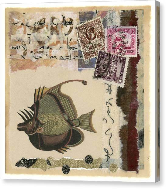 Indo Canvas Print - Tropical Fish Collage by Carol Leigh
