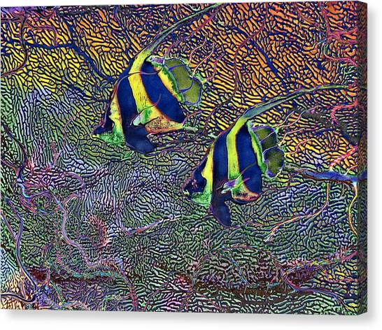 Coral Reef Tropical Fish Colorful Water Art Canvas Print